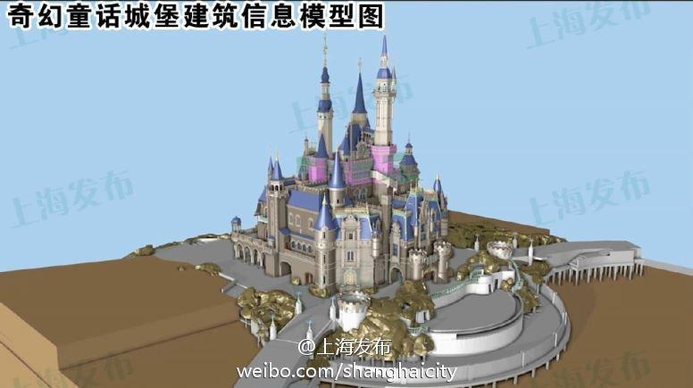 上海迪士尼奇幻童话城堡