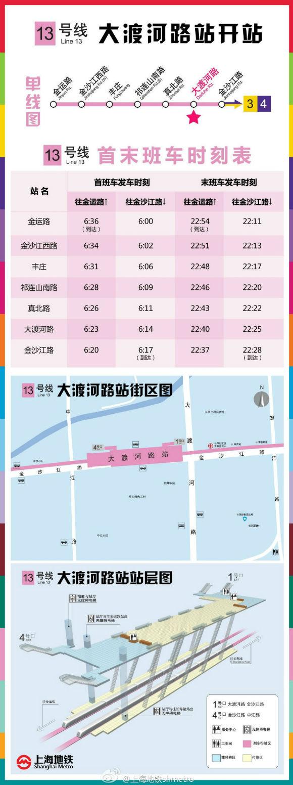 地铁13号线大渡河路站11月将试运营